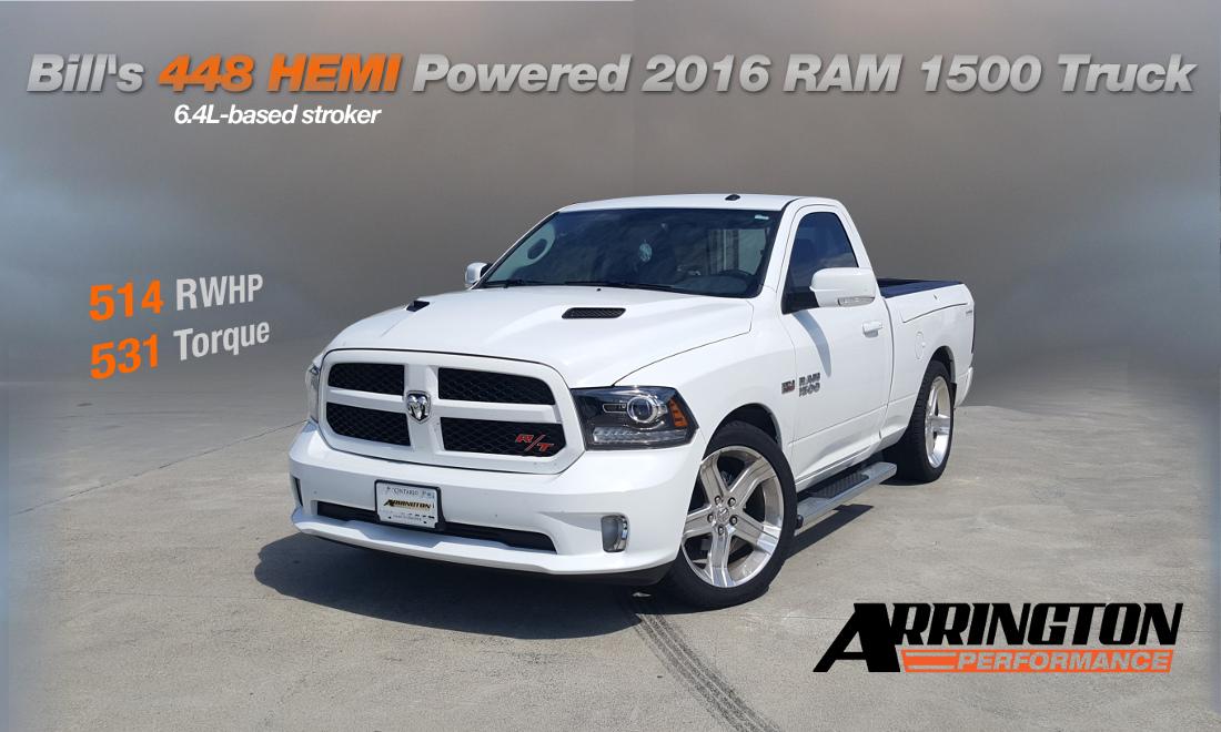bill's 448 hemi powered 2016 ram 1500 truck!